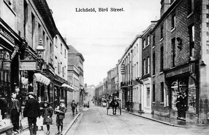 Mr Lomax's shop on Bird Street, Lichfield