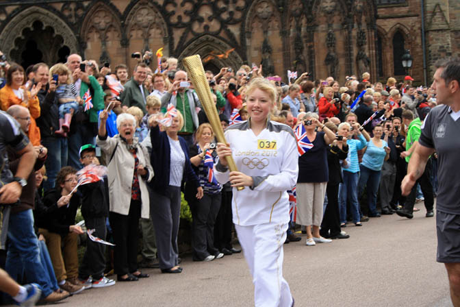 Olympic Torch, Lichfield