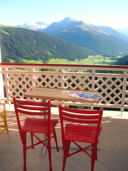 Our balcony at the Berghotel Schatzalp.