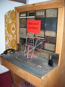 Old telephone exchange at the Schatzalp.