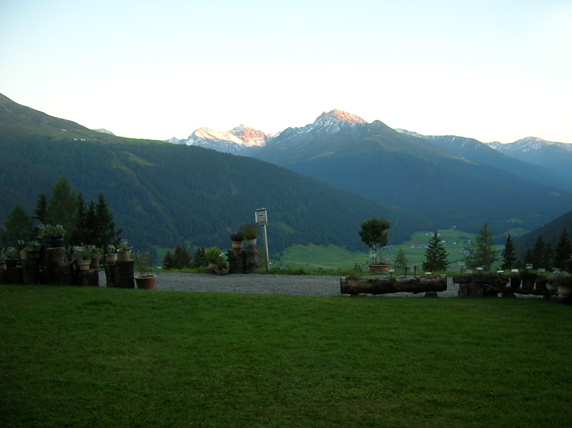 Alpenglow at dusk.