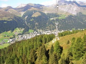 Davos seen from a cable car.