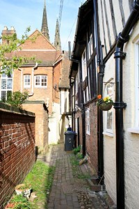 Vicars' Close (Lower Courtyard), Lichfield, by Annette Rubery