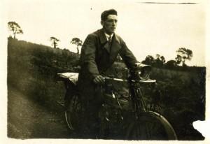 My grandfather, Jesse Rubery, on his motorbike.