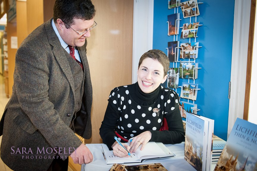 Annette Rubery signing Lichfield Then & Now
