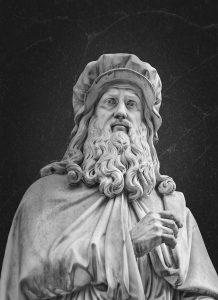 Leonardo da Vinci sculpture