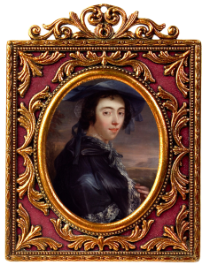 Peg Woffington by John Lewis oil on canvas, feigned oval in an elaborate gold frame